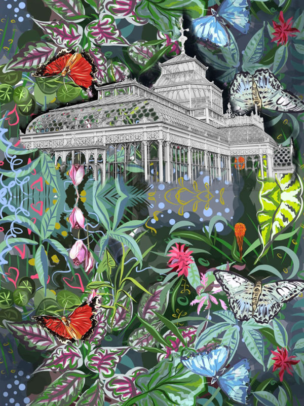 Hothouse with Butterflies