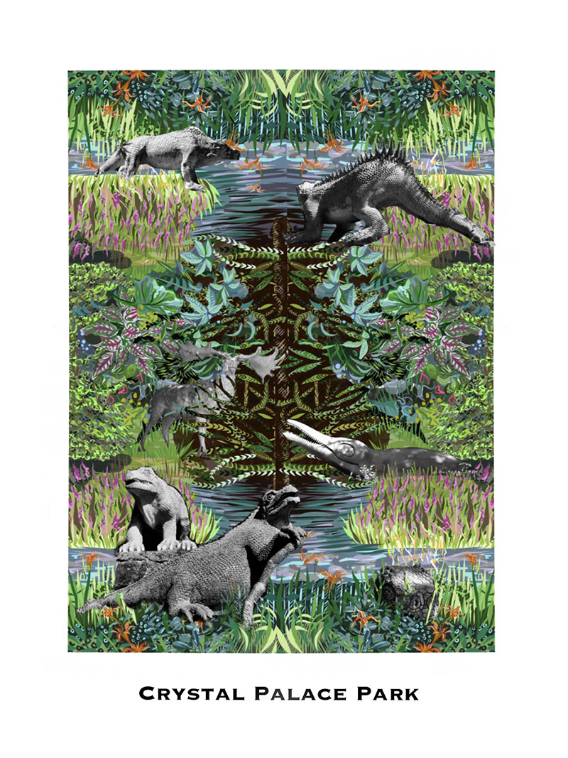 Crystal Palace Poster Art Print By Tartan Zebra